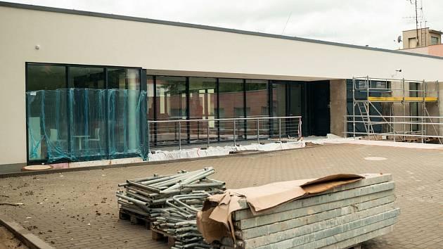 Stavba nové budovy Nemocnice Tišnov.