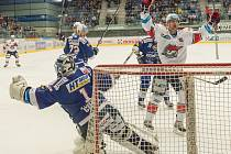 Druhý zápas play off mezi Chomutovem a Kometou Brno.