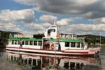 V sobotu pokřtili a spustili na Brněnskou přehradu historickou loď, která dostala jméno Morava.