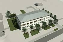 Vizualizace a plány školy v Rajhradicích