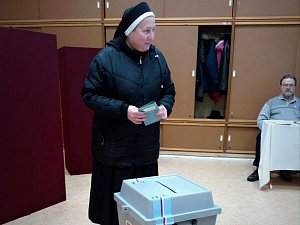 Prezidentské volby na jižní Moravě, den první