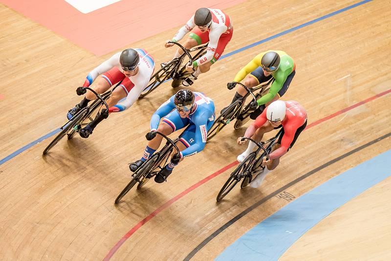 Dráhoví cyklisté brněnské Dukly na mistrovství Evropy 2021 ve Švýcarsku.