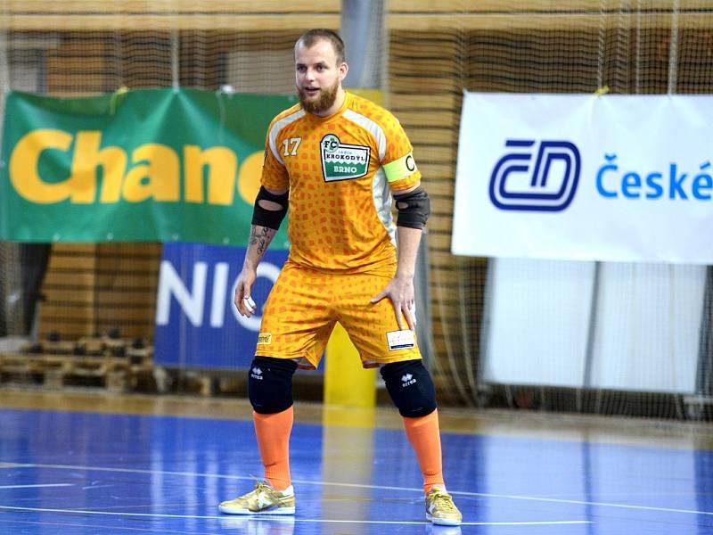 22. kolo Chance futsal ligy: Helas Brno vs. FC Rádio Krokodýl Brno, 1. dubna 2016.