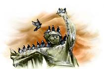 Osvobození Brna, námořníci a šavle.