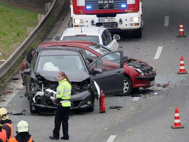Nehoda v brněnské Žabovřeské ulici.