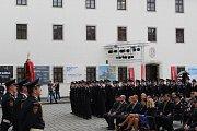 Slib nováčků jihomoravského hasičského sboru
