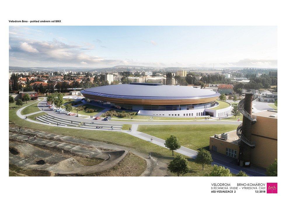 Nový velodrom má vyrůst v brněnském Komárově.