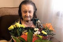 Nejstarší obyvatelka ČR Marie Schwarzová (na snímku z 30. ledna 2019), dožila se 109 let.