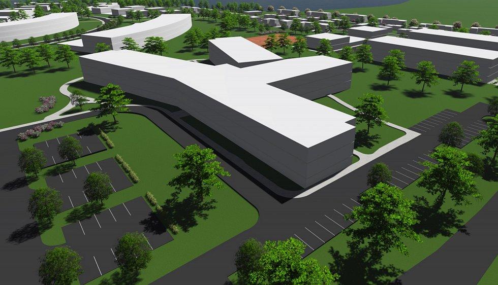 Plánovaný lázeňský komplex v Pasohlávkách. Odborný lázeňské léčebný ústav.