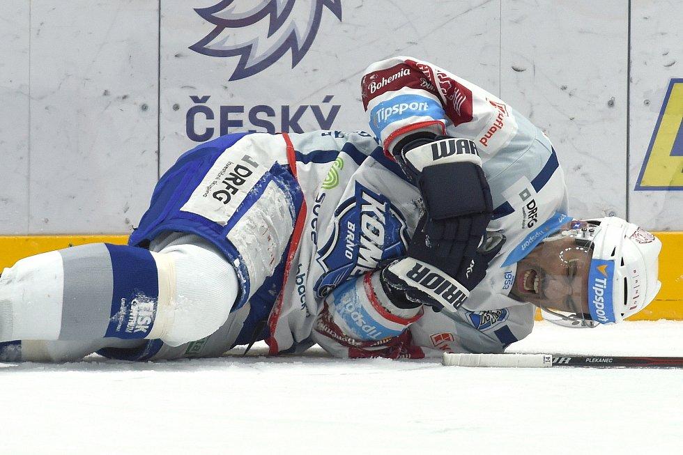 Brno 18.2.2020 - domácí HC Kometa Brno (Tomáš Plekanec) v bílém proti Mountfield Hradec Králové