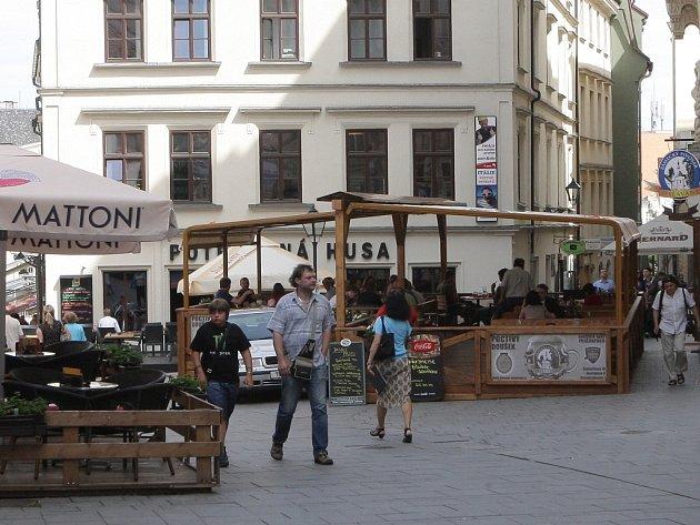 Zahrádka v ulici Starobrněnská v Brně.