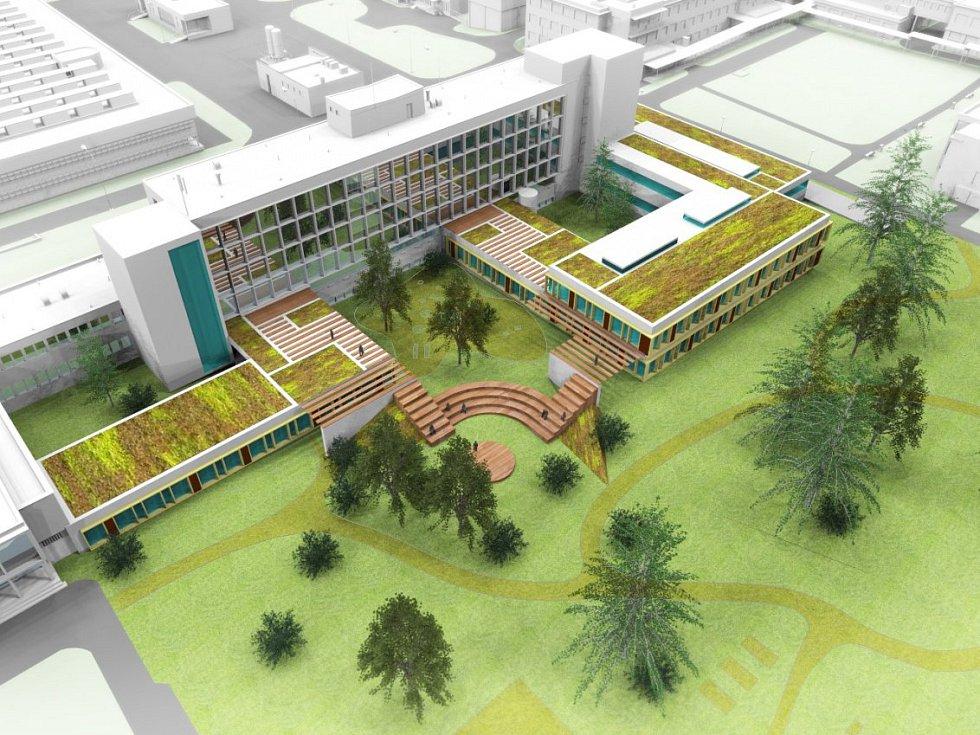 Vizualizace k rekonstrukci psychiatrie Fakultní nemocnice Brno v budově G.