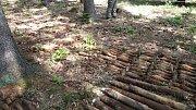 Asi sedm set kilogramů munice z druhé světové války odpálili ve středu policisté nedaleko Svatoslavi na Tišnovsku. Na nebezpečné předměty je upozornil osmadvacetiletý muž, který se v místním lese pohyboval s detektorem kovů.