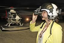 Vrtulník s nočním viděním.