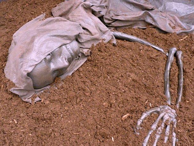 Rekonstrukce mumie z močálů – lidské oběti  bohům.