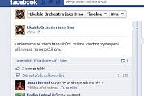 Oficiální stránky kapely Ukulele orchestra jako Brno na sociální síti Facebook.