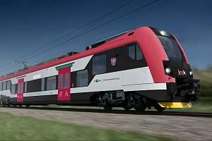 Jihomoravský kraj zveřejnil, jak budou vypadat vnitřní prostory první várky nových vlaků od Škoda Transportation.