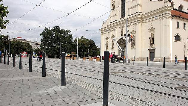 Dokončené Moravské náměstí v Brně.