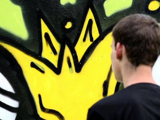 Brňané si ve čtvrtek mohli legálně posprejovat zdi na Obilním trhu.