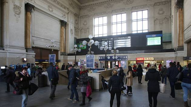 Hlavní vlakové nádraží v Brně. Ilustrační foto.