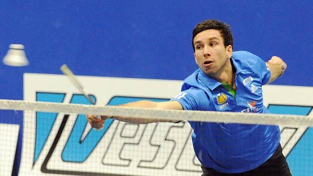 Badmintonista Jehnic Petr Koukal.