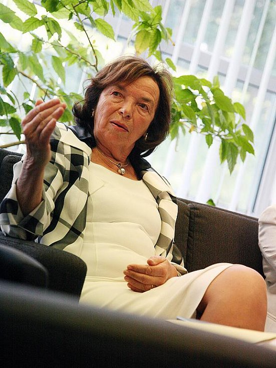 Livia Klausová v Brně.