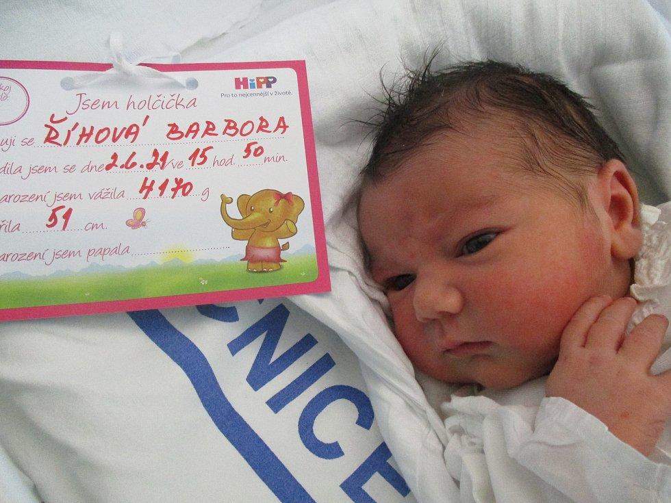 Barbora Říhová, 2. června 2021, Moravská Nová Ves, Nemocnice Břeclav, 4170 g, 51 cm