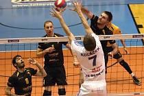 Brněnští volejbalisté vyhráli druhé čtvrtfinále s Benátkami nad Jizerou 3:0.