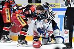 Brno 18.2.2020 - domácí HC Kometa Brno v bílém proti Mountfield Hradec Králové (Jakub Lev)