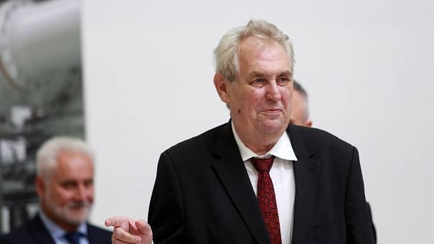 Prezident České republiky Miloš Zeman na návštěvě Jihomoravského kraje.