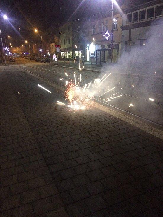 Brňané oslavili nový rok ohňostrojem