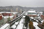 Brno zapadlo prvním letošním sněhem.