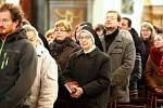 Děkovná mše za nového papeže Františka v katedrále sv. Petra a Pavla v Brně.