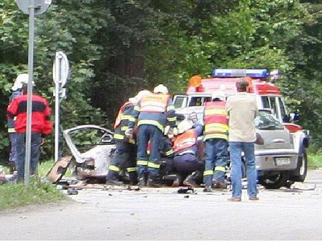 nehoda automobilu u Vyškova