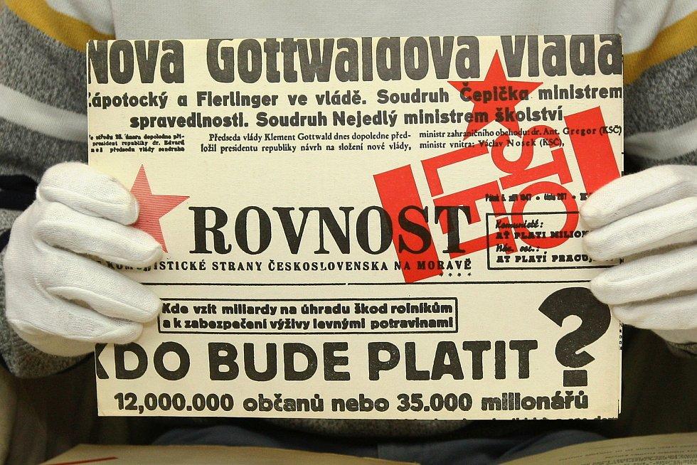 Rovnost v minulosti informovala třeba o složení nové vlády Klementa Gottwalda. Psal se rok 1947.