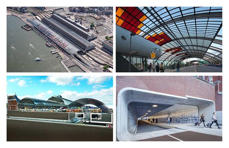 Masterplan centrální stanice Amsterdam.