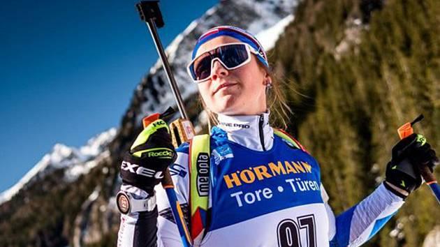 Brněnská biatlonistka Tereza Vinklárková.
