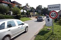 Měření rychlosti v Židlochovicích.