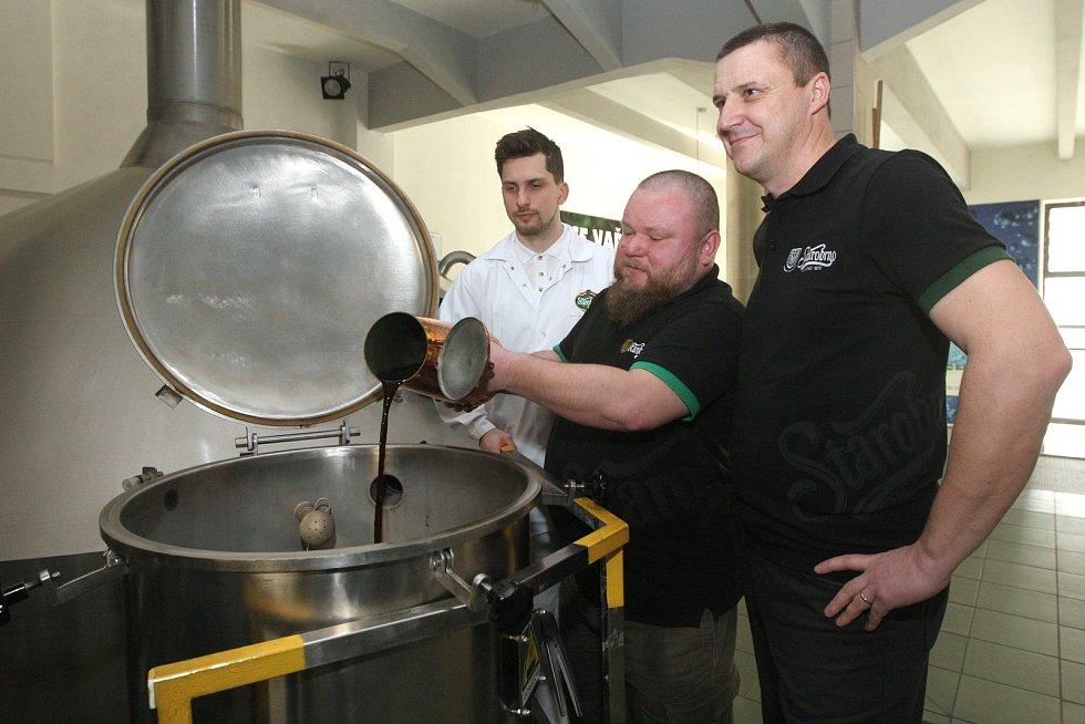 Výroba zeleného piva v brněnském pivovaru Starobrno. Ilustrační foto