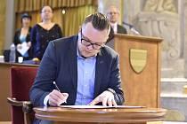 Jiří Faltýnek  - Zasedání brněnského zastupitelstva. Na snímku je nový zastupitel města Jiří Faltýnek (ANO), syn místopředsedy ANO Jaroslava Faltýnka.