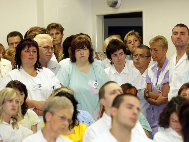 Zaměstnanci Úrazové nemocnice.