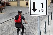 Nové značky pro cyklisty v centru Brna.
