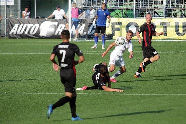 Fotbalový zápas mezi brněnskou Líšní a Žižkovem