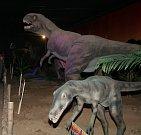 Dinosauři v bývalém Prehistoric parku ve Chvalovicích na Znojemsku.