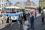 Brno 20.3.2020 - srovnání místa před a po zákazu pohybu bez zakrytých úst a nosu - náměstí Svobody