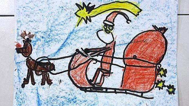 Děti namalovaly Ježíška.