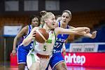 Basketbalistky KP Brno (v bílém) podlehly v závěrečném utkání eurocupové skupiny tureckému Elazigu.