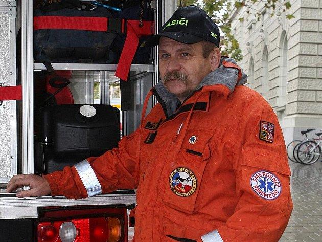 Záchranář Martin Červenka z Brna.