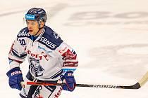 Utkání 29. kola hokejové extraligy: HC Vítkovice Ridera - Bílí Tygři Liberec,. Na snímku Jan Hruška z Vítkovic.