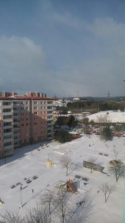 Sníh v Líšni.